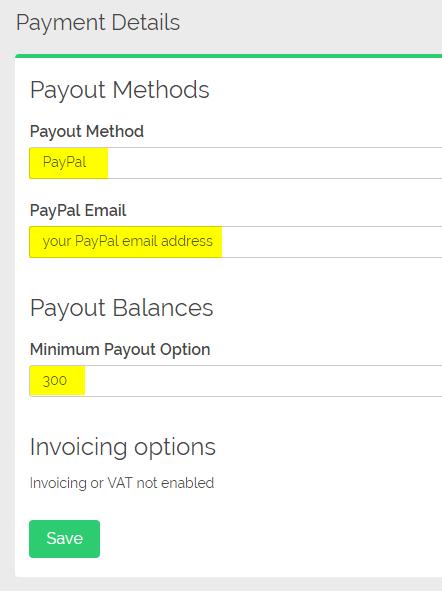 Update Payment Details